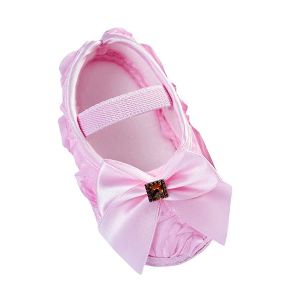 Baby Girl Shoes Todder Pre-walker Rose Flowers Bow Baby Soft Sole Shoes First Walkers - Amariah's