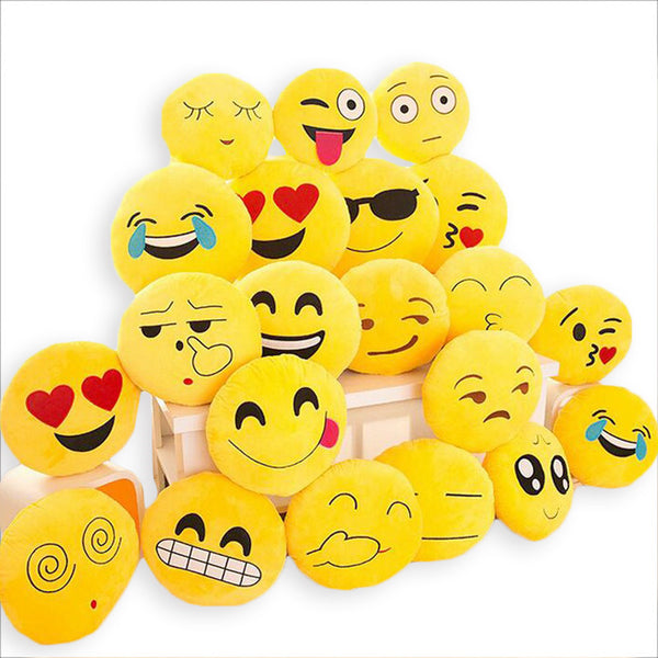 BeddingOutlet Cute Emoji Cushion Home Smiley Face Pillow Stuffed Toy Soft Plush 32cmx32cm Best Sell - Amariah's