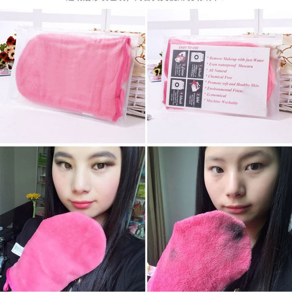 Cleaning Towel Glove Direct Makeup Cosmetic Removal Microfiber Reusable New 1 pc Hot - Amariah's