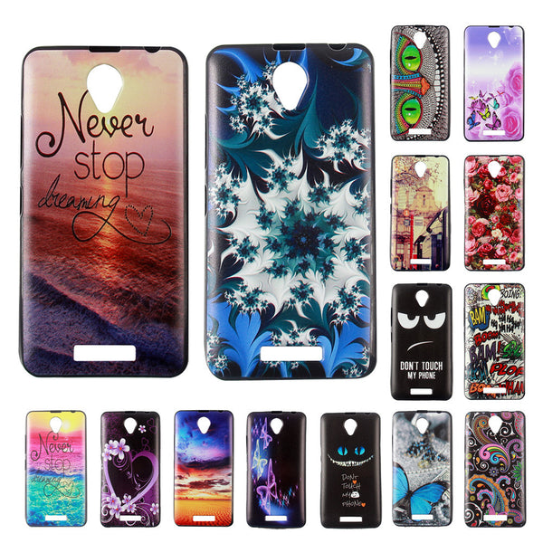 For Lenovo A5000 Cute Cartoon Pattern Style Cool Gel Soft TPU Silicone Case for Lenovo a5000 Phone Cover Celular cases