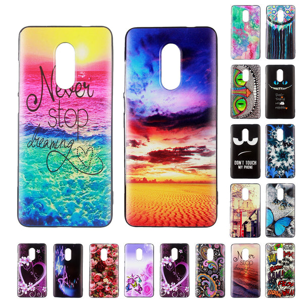 For Xiaomi Redmi Note 4X Cute Cartoon Pattern Style Cool Soft TPU Silicone Case Xiaomi Redmi Note 4X Phone Cover Celular cases