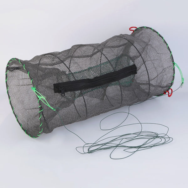 2 Size Available Foldable Fishing Net Lobster Shrimp Crab Crayfish Mesh Bait Trap Catcher - Amariah's