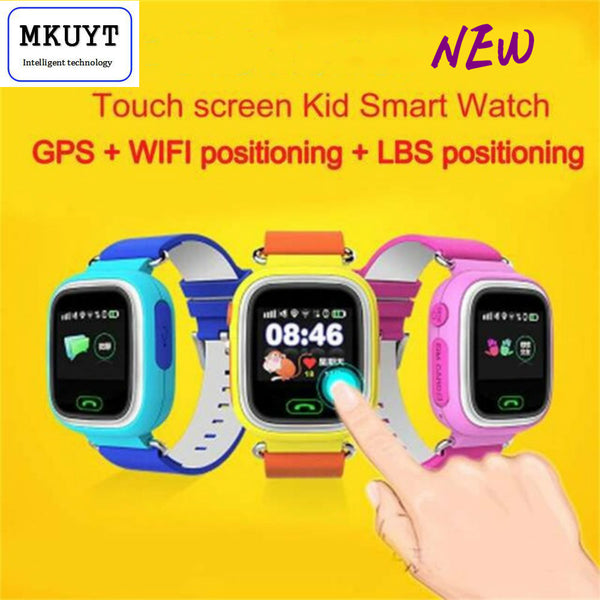 Q90 GPS Phone Positioning Fashion Children Watch 1.22 Inch Color Touch Screen WIFI SOS Smart Watch PK Q80 Q50 Q60 - Amariah's