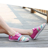 HEE GRAND Summer Flat Shoes Woman Comortable Casual Lace-Up Flats Breathable Outdoor Women Shoes 3 Colors Size 35-40 XMF263 - Amariah's