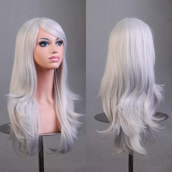 Hot Hatsune Miku Anime Wig Synthetic Hair Long Curly Wave peluca Cosplay Wig Gray Nicki minaj wig Perruque peruca femininas - Amariah's
