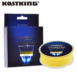 KastKing 550m 4 Strands PE Braided Fishing Line Multifilament Fishing Line Wire Brown/Yellow/Blue/Green 0.10~0.50mm 10-80 LB - Amariah's