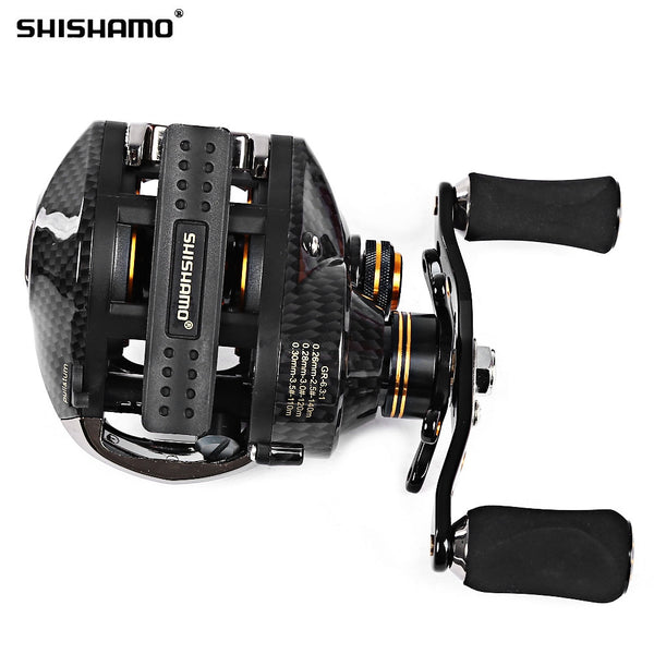 NEW Shishamo LB200 Fishing Reels GT 7.0:1 Bait Casting Reels Left Right Hand Fishing with One Way Clutch Baitcasting Reel - Amariah's