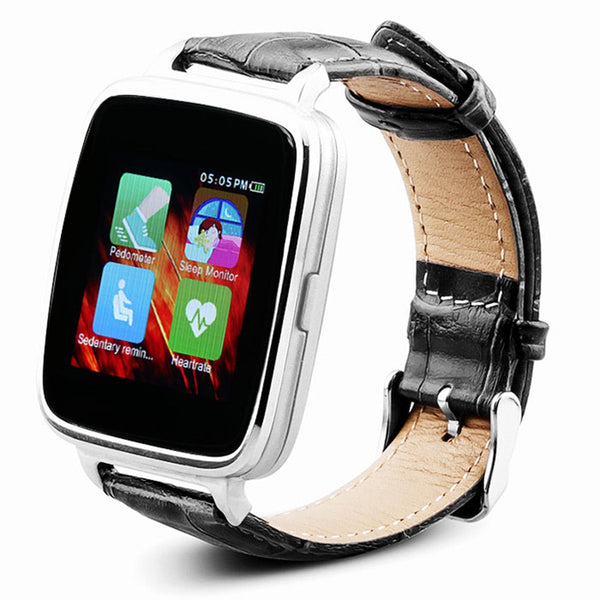 OUKITEL A28  Bluetooth Heart Rate Monitor Smart Watch MT2502A BT4.0 With Genuine Leather Strap For iOS Android Smartphones - Amariah's