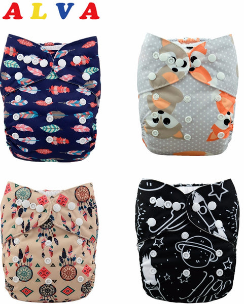 U Pick ALVA Baby Washable 1pc Cloth Diaper with 1pc Microfiber Insert (H series) - Amariah's