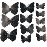 12 Pcs/Lot PVC 3D DIY Butterfly Wall Stickers Home Decor Poster for Kitchen Bathroom Fridge Adhesive to Wall Decals Decoration - Amariah's