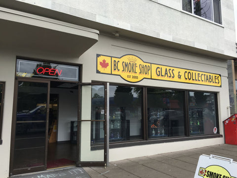 BC Smoke Shop storefront in Victoria BC