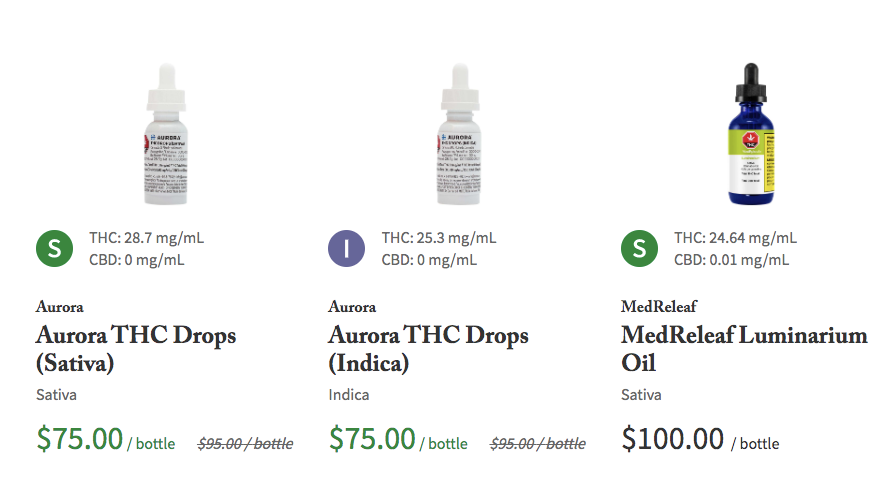cannabis drops and oils