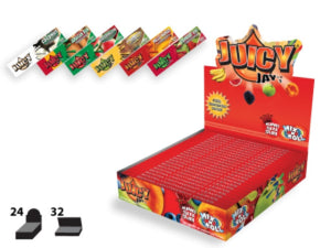 Juicy Jay's Mix N Roll Tropical King Size Box of 24