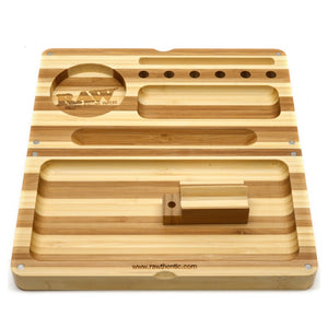 RAW Backflip Rolling Tray - Striped Bamboo