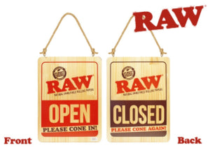RAW Open Close Sign