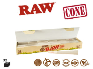 RAW Organic Cones Basics 1 1/4 32 Pack