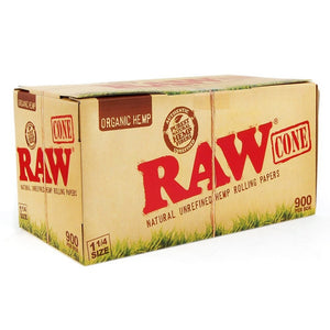 RAW Organic Cones Pre-Rolled 1 ¼ 900 Box