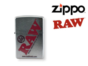 RAW Zippo Lighter Brushed Silver