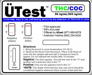 UTest 2 Panel Dip Test THC / COC