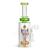 "Red Eye Glass 9"" Dragon Concentrate Rig"
