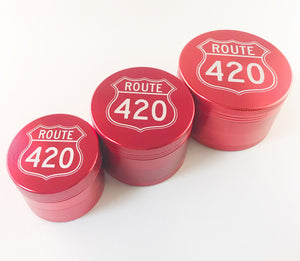 Route 420 Grinders in red, 3 sizes
