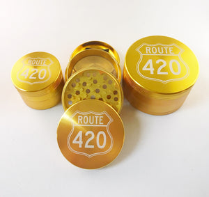 Route 420 4 Piece Grinder Gold
