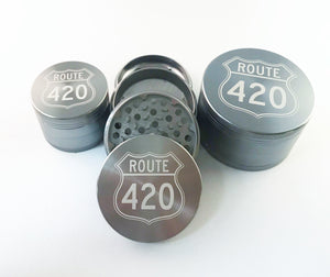 Route 420 4 Piece Grinder Gun Metal