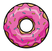 Doughnut with pink icing and sprinkles Dab Mat