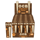 OCB Unbleached Virgin Cones Kingsize 3pk