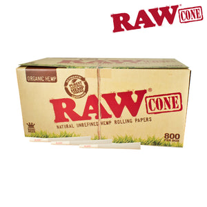 RAW Organic Pre-Rolled King Size 800 Cones