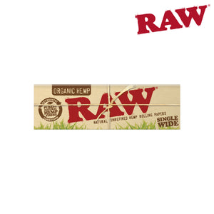 RAW Organic Single Wide Single Pull 6 Pack