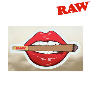 Raw Metallic Stickers - Lips and lit cone