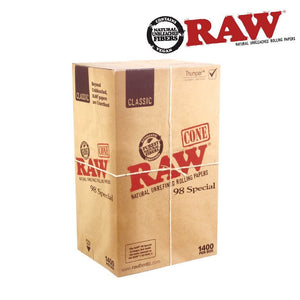 RAW Natural Cones Pre-Rolled 98 Special Box 1400