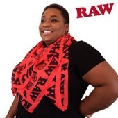 Raw Scarf High Fashion Red