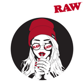 Raw Sticker Glasses Hat Girl
