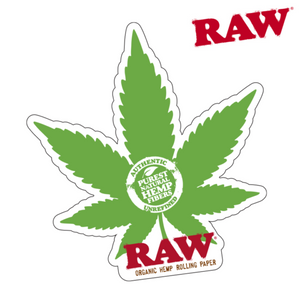 Raw Sticker Hemp Leaf