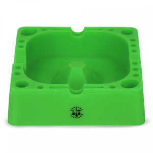 "Lit Silicone Square Ashtray 4.75"" w/ Tool Holders"