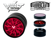Hammercraft Volt 4 Piece Grinder Red