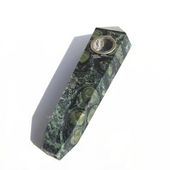 Stoned Crystal Crocodile Jasper Pipe