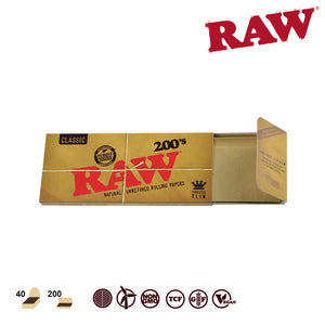 RAW Natural King Size Slim 200 Pack