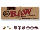 RAW Natural Connoisseur 1 1/4 w/Tips