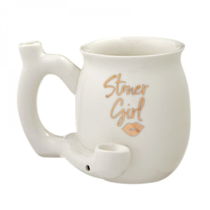 Stoner Girl Ceramic Coffee Mug Pipe