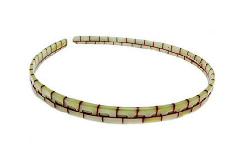 French Amie Ivory Brick Handmade Celluloid Thin Non-Brittle Headband-French Amie-ebuyfashion.com