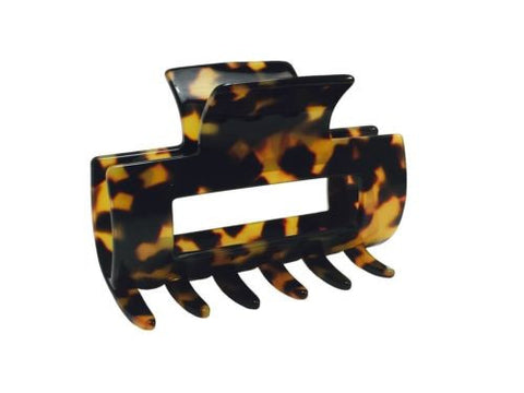 French Amie Geo Medium Tokyo Handmade Leopard Celluloid Hair Claw Clip Clamp-FRENCH AMIE-ebuyfashion.com