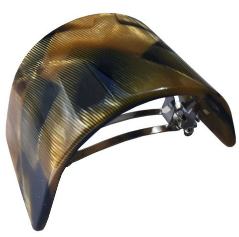 French Amie Half Circle Curved Caramel Handmade Celluloid Hair Clip Barrette-French Amie-ebuyfashion.com
