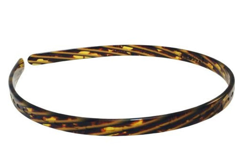 French Amie Handmade Light Weight Grooved Tokyo Celluloid Hair Headband-French Amie-ebuyfashion.com