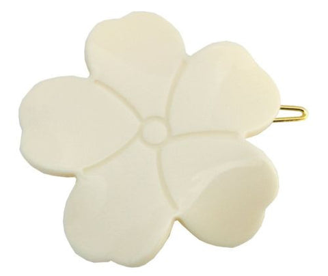 French Amie Flower Handmade Side Slide Barrette with Snap On Hair Clip For Girls-FRENCH AMIE-ebuyfashion.com