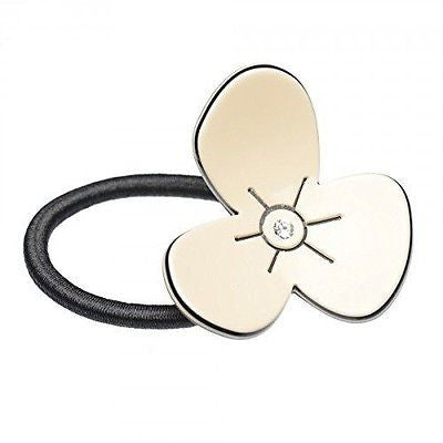 French Amie Flower Crystal Handmade Celluloid Ponytail Holder Hair Tie Elastic-FRENCH AMIE-ebuyfashion.com