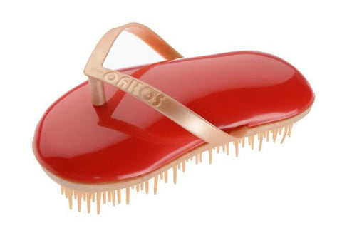 Sohyo Flip Flop Gold Poppy Detangler Brush Comb For Thick Dry Wet Hair-Sohyo-ebuyfashion.com