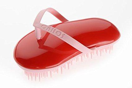 Sohyo Flip Flop Powder Poppy Red Detangler Hair Brush Comb For Girls-Sohyo-ebuyfashion.com